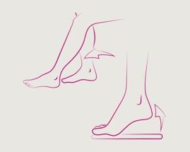 Скольжение стоп, иллюстрирующее упражнение 2 гимнастики для вен