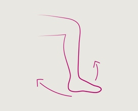 Сгибание и разгибание стоп из упражнений для ног и стоп для профилактики тромбоза