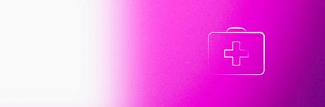 Значок «сумка врача с медицинским крестом для лечения венозной недостаточности»