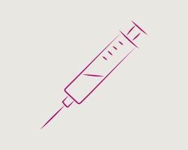 Значок «игла для подкожных инъекций для склеротерапии»