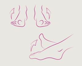 «Скручивание» стоп, иллюстрирующие упражнение 3 из гимнастики для вен