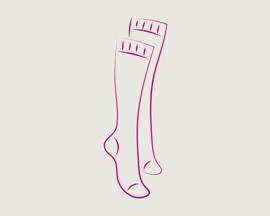 Значок «компрессионные чулки для профилактики тромбоза»